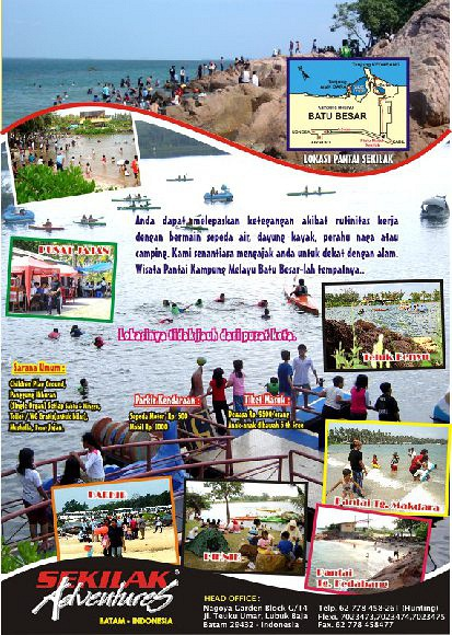 Wisata Bahari Pantai Sekilak Batu Besar, Batam Kepulauan Riau - Indonesia