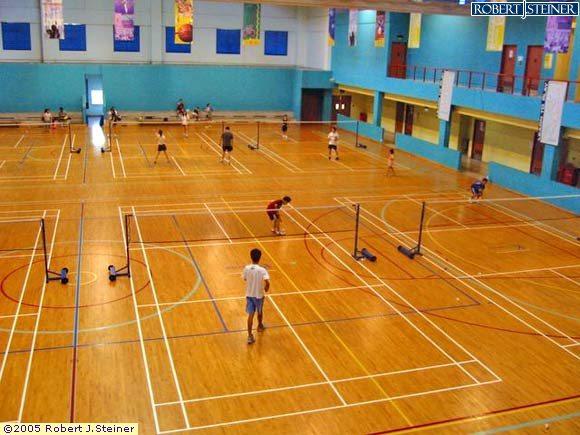 badminton court of choa chu kang sports hall building