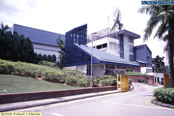 Main View Of Mediacorp Caldecott Broadcast Centre Building