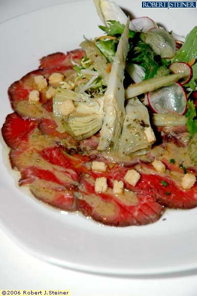 Seared Beef Tenderloin Carpaccio by Equinox The Restaurant
