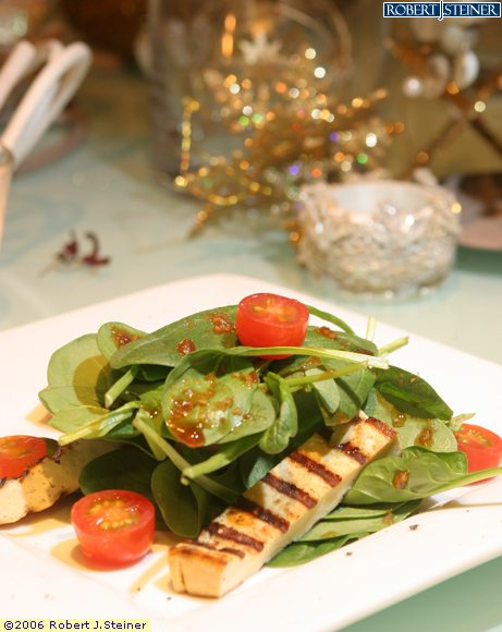 Spinach And Tofu Salad With Japanese Sesame Miso Dressing Recipe ...