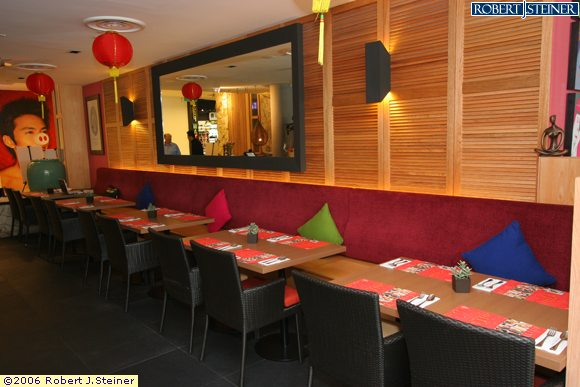 Thai accent restaurant interior