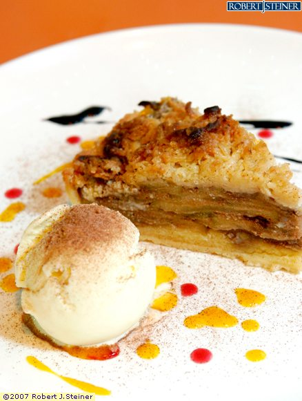 Apple Crumble Pie With Ice Cream By Fin Seafood Cafe