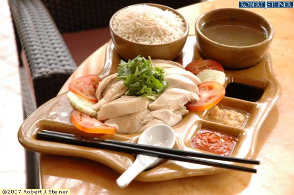 Hainanese Chicken Rice by Crossroads Cafe