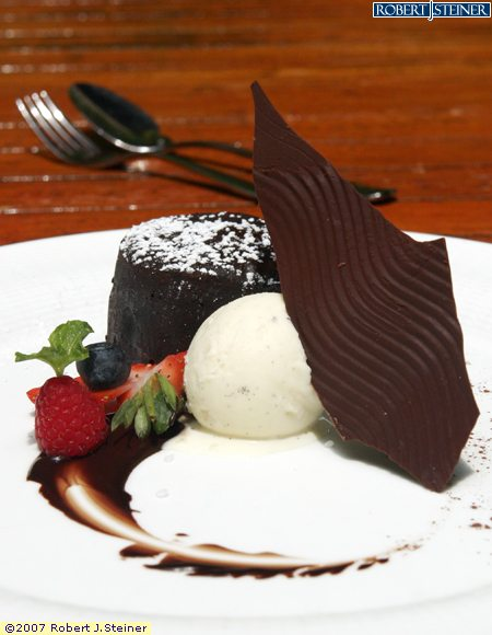 Baked Warm Chocolate Cake With Vanilla Ice-Cream by ...