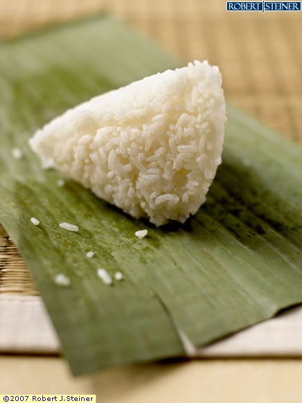 Banana Leaf Wrapped Rice Rice Wrapped in Banana Leaf