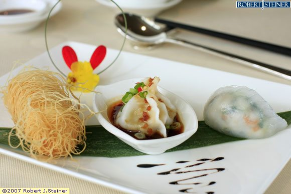 Dim Sum, Steamed Crystal Dumplings With Prawns by Summer Pavillion