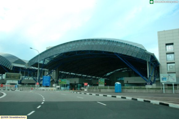 Close Up of TUAS CHECKPOINT Building Image, Singapore
