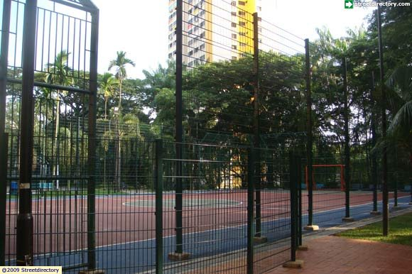 Main View Of Henderson Park Street Soccer Court Building