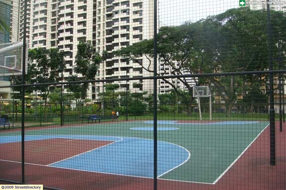 Main view of toa payoh lorong 1 park basketball court for Building a basketball court
