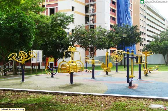 Main view of elderly fitness corner pasir ris atlantis