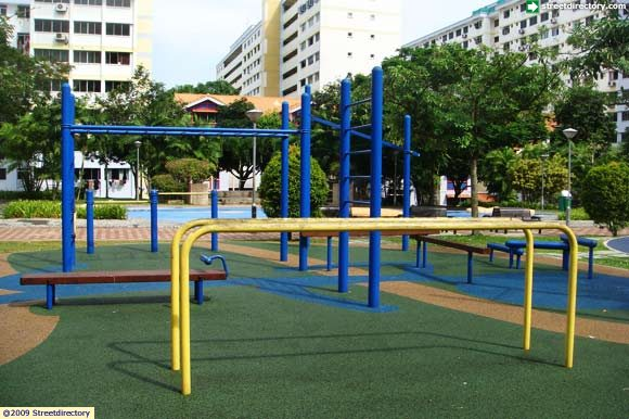 Fitness corner of elderly pasir ris