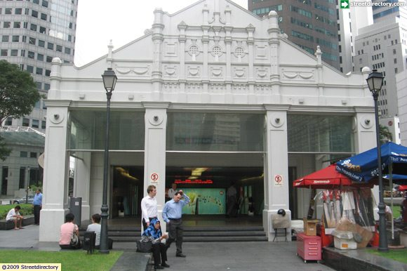 Front View Of Raffles Place Mrt Ns26 Ew14 Entrance