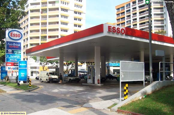 main view of esso yishun service station building image singapore. Black Bedroom Furniture Sets. Home Design Ideas