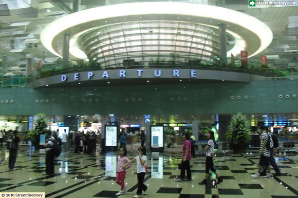 Departure Hall of Changi Airport Terminal 3 Building Image ...
