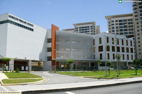 front view of horizon primary school building image  singapore