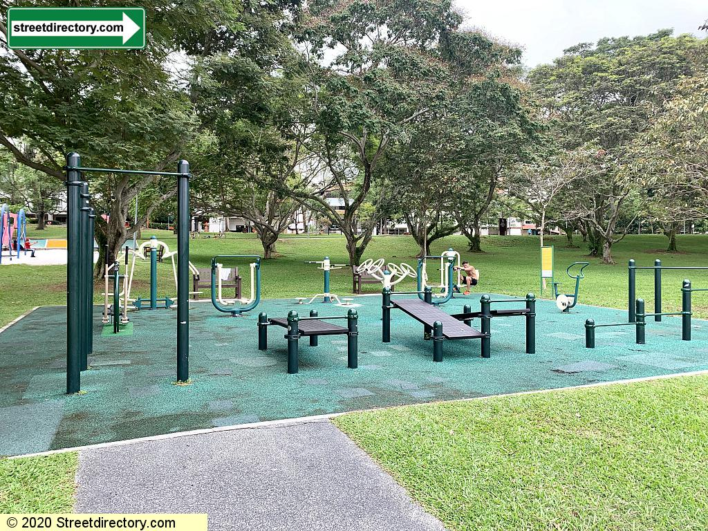 Fitness Area at Bedok Reservoir Park @ Jetty Walkway